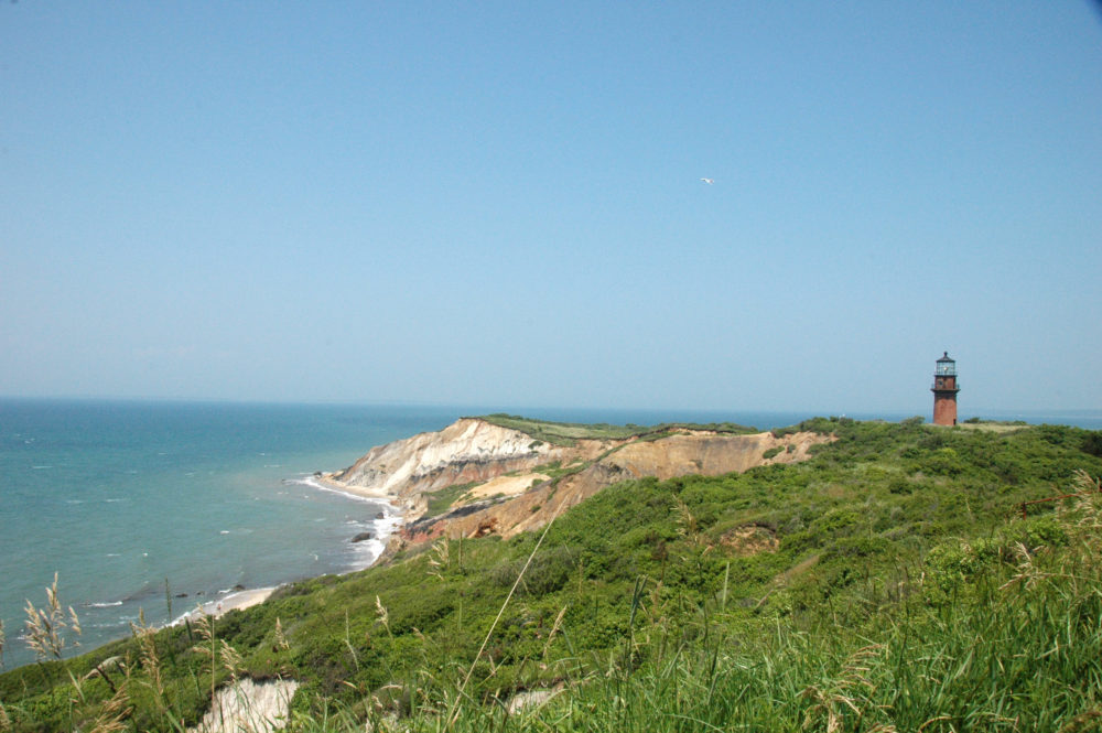 Martha's Vineyard view of sea and cliffs