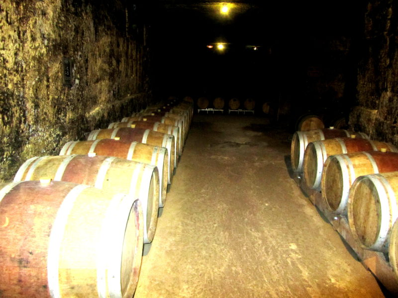 undergound wine caves in st emilion