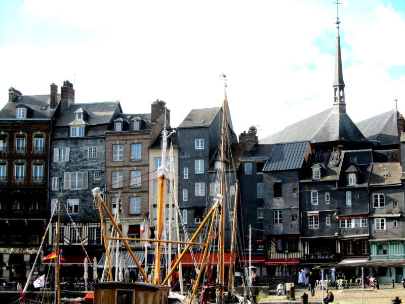 Honfleur town in Normandy port