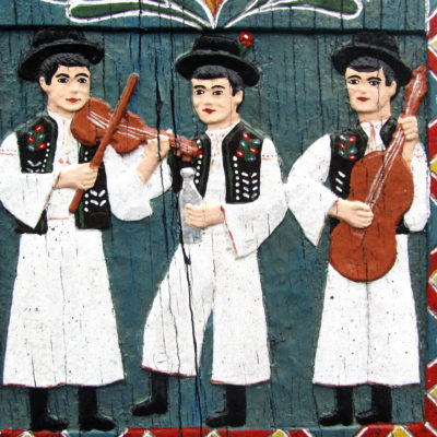 Romania local painted folkart