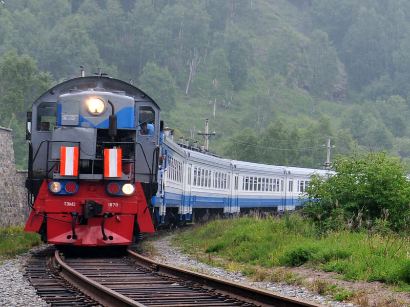 Trans-Siberian train across Russia