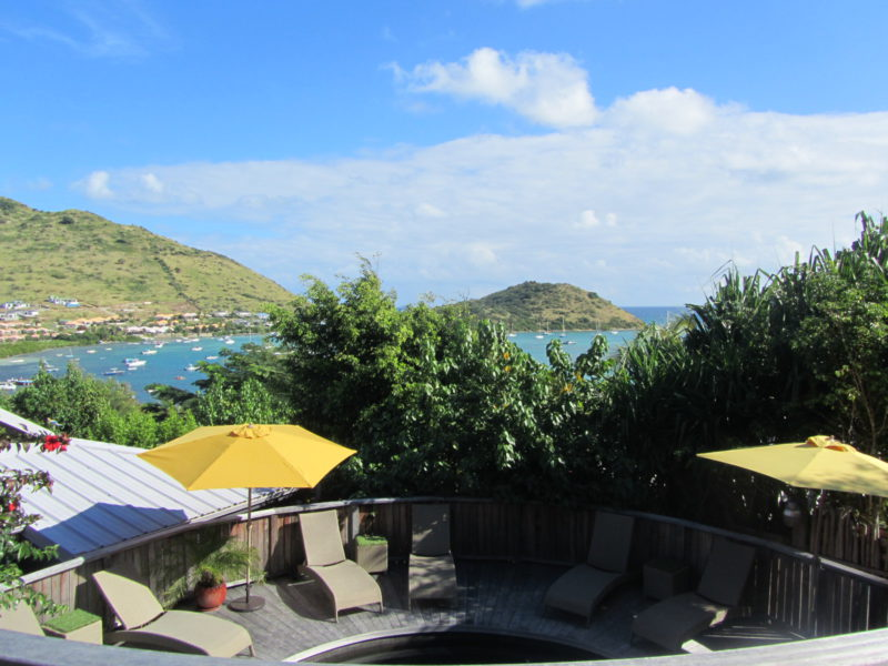 boutique hotel with ocean view in saint martin