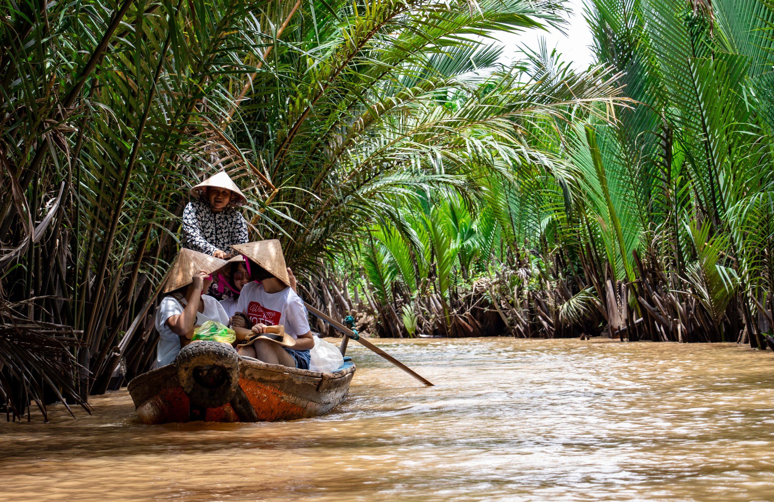 Mekong river delta cruise in Vietnam