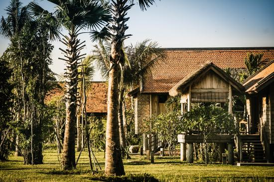 Resort in Cambodia, village feel