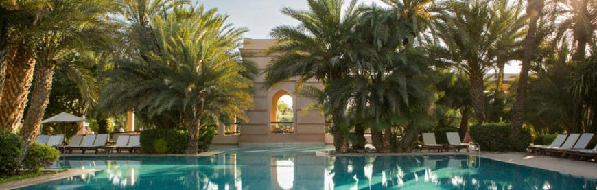 Marrakech palm trees pool