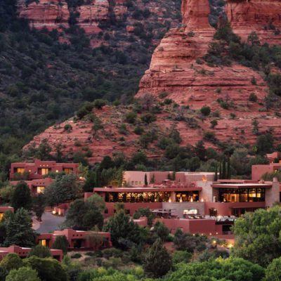 View of boutique hotel in Sedona Arizona