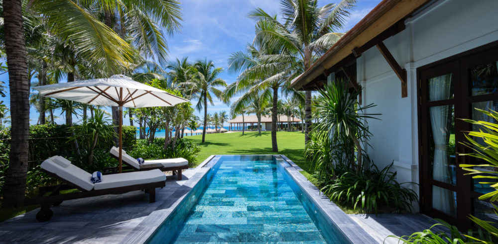 The Anam Resort is luxurious with private pools and beautiful views