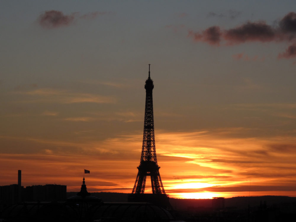 Paris EiffelTower Sunset