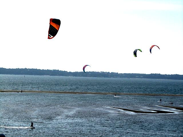 kitesurfing arcachon
