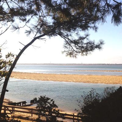Arcachon plage banc de sable