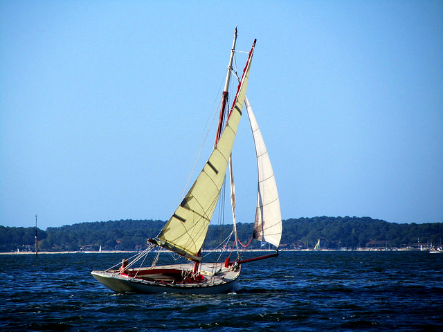sailing in arcachon bay