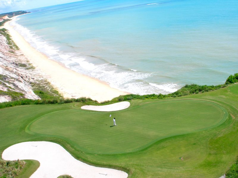 golf course overlooking the beach and ocean