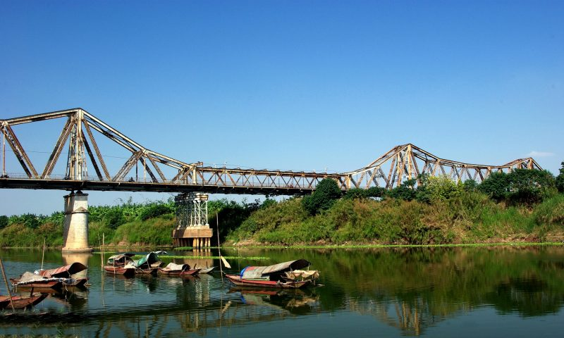 Hanoi River And Bridge