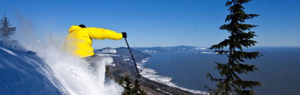 Skier in Quebec Canada