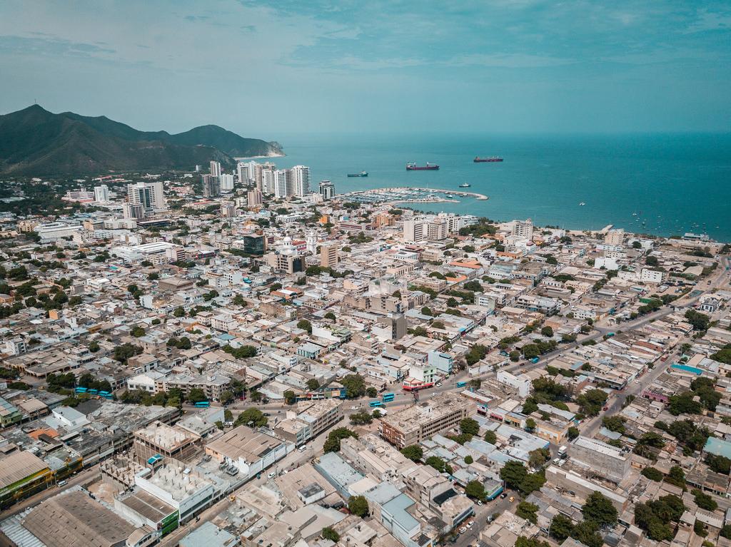 san marta town by the ocean