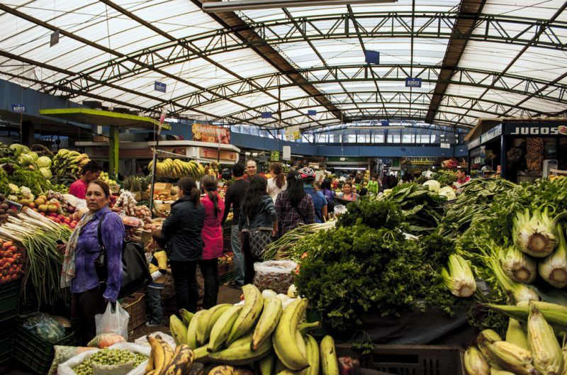 bogota fruits and vegetable market