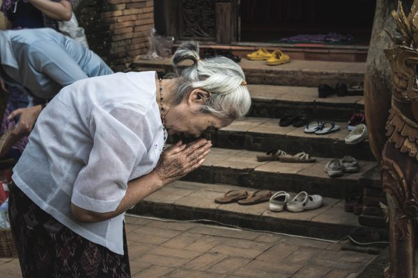 Chiang Mai Thailand Woman Praying
