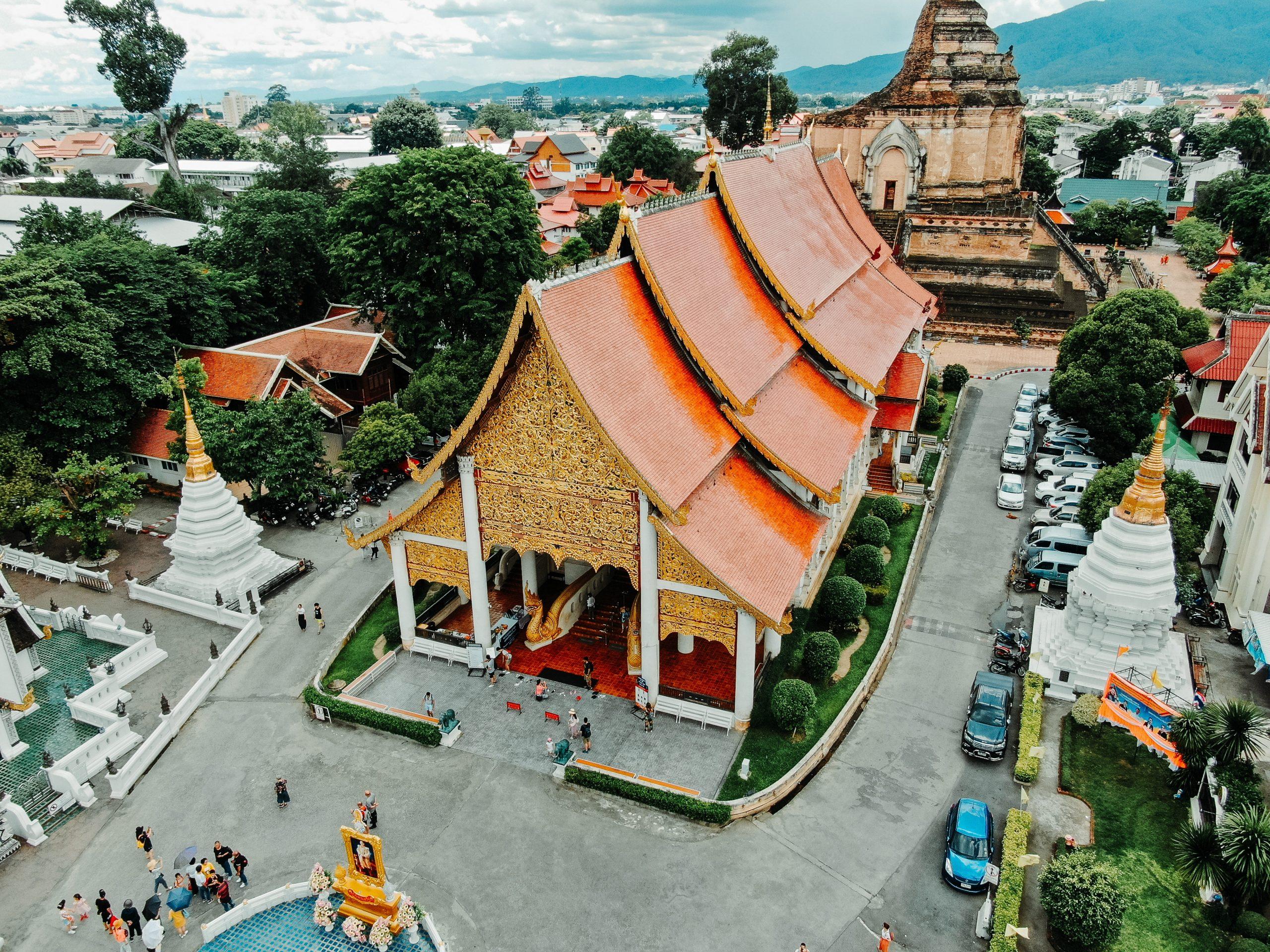 Chiang Mai orange temple