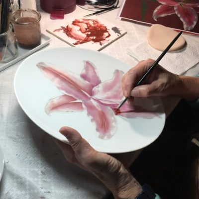 porcelain painting workshop in Limoges France