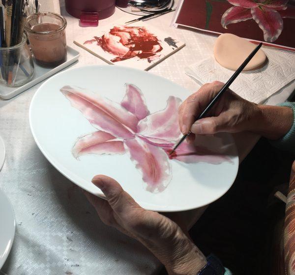 porcelain painting workshop in Limoges France