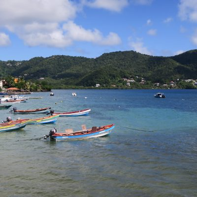 Martinique bay and boat
